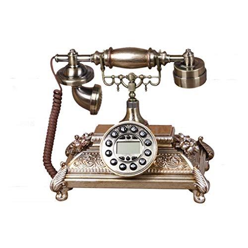 RMXMY Antikes Telefon im europäischen Stil, festes digitales Vintage-Telefon Klassisches europäisches Retro-Festnetztelefon für kreative Privathaushalte mit festem Telefonanschluss