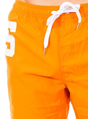Superdry Badeshorts Men PREMIUM WATER POLO SHORT Dark Navy Orange