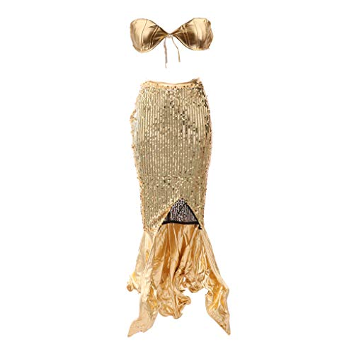 equin Meerjungfrau Kostüm BH Top Rock Deep Sea Siren Kostüm - L ()
