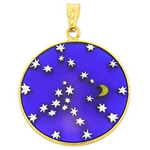 GlassOfVenice Damen Starry Night in vergoldete Rahmen 2,5cm