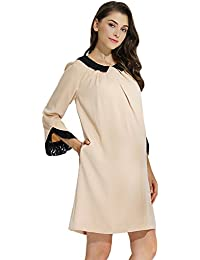 Sweet Mommy Maternity and Nursing Detachable Collar Loose Fit Dress
