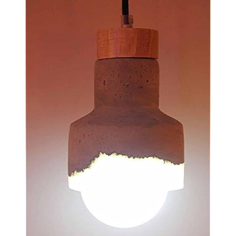 BBSLT-Moda resina lampadari, Lampadario in stile europeo fiammifero di legno cemento semplice trasparente