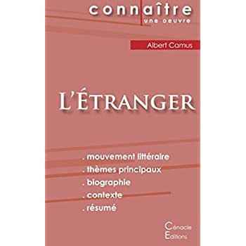 Fiche de lecture L'Etranger de Albert Camus (analyse littéraire de référence et résumé complet)