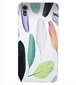 ColourCraft Colourful Feathers Design Back Case Cover for HTC DESIRE 626s