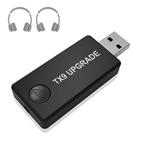 Bluetooth Transmitter für TV Kopfhörer iPod MP3 / MP4 PC Home Audio System, Wireless Bluetooth 3.5mm Stereo Audio Adapter Transmitter, High-Fidelity-Stereo, Plug & Play, Stromversorgung über USB