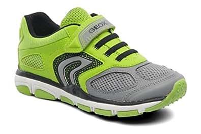 Geox  Jr Torque B, Sneakers Basses garçon - vert - Citron vert/Gris,