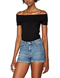 Urban Classics Damen T-Shirt Ladies Off Shoulder Rib Tee