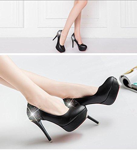 Da donna-Tacchi-Casual-Comoda-A stiletto-PU (Poliuretano)-Nero Rosa Rosso Bianco Black