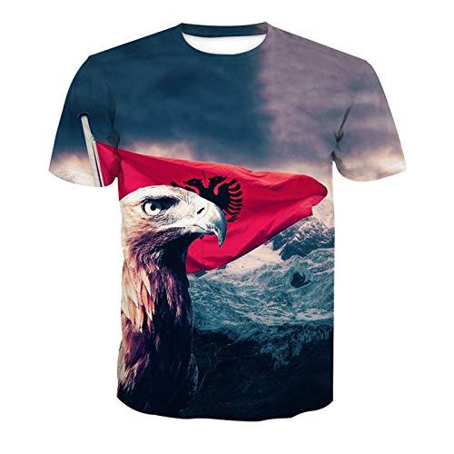 ot Banner Adlerkopf Fußball Team Uniform Muster Digitaldruck Liebhaber Shirt(L,Bunt) ()