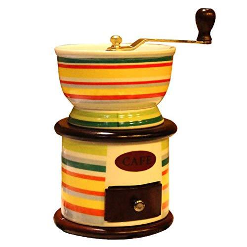 HYLH Retro Handmühlen Keramik Manuelle Kaffeemühle Haushaltsmühlen Kaffeemaschine Fräsmaschine Gusseisenkern
