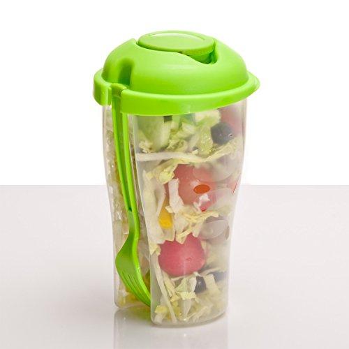 Salat-to-go-Becher mit Dressingbehälter Salatcup 2 go für unterwegs