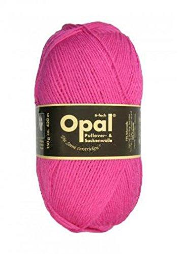 150 g, Opal Uni Farbe 7901 pink, 6-fach, Brandneu, Sockenwolle, Strumpfwolle