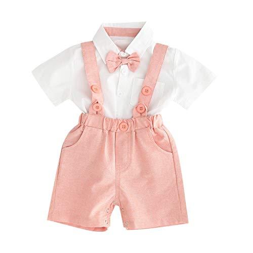 2 Pcs Kleinkind Jungs Shirt + Shorts Hosen Set Gentleman Party Passen (Baby Weihnachtsmann Anzug)