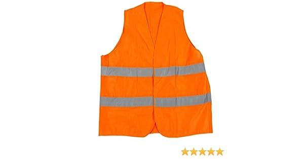 10XL /Übergr/ö/ßen Warnweste Sicherheitsweste in Orange in gro/ßen Gr/ö/ßen von 6XL