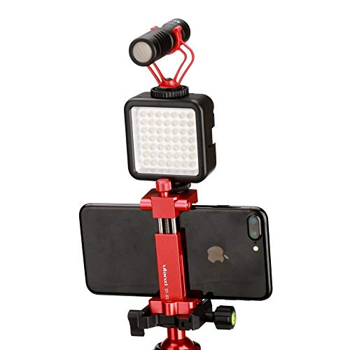 Anddod Ulanzi ST-03 Metal Smart Phone Tripod Mount Clip with Cold Shoe Mount Arca-Style Quick Release Plate - Black -