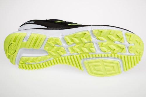 Gibra , Baskets pour homme Noir - Nero / Bianco / Verde Neon