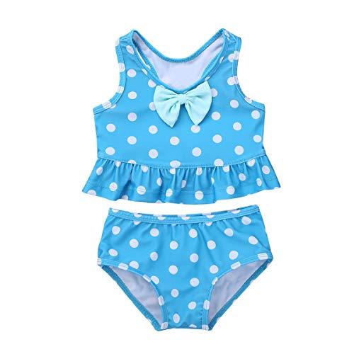 416d1cd68d18 iEFiEL Ragazze Costume da Bagno Bambina Bikini a Due Pezzi Set Mare Piscina  Swimwear Nuotare Abito