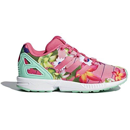 adidas Unisex-Kinder ZX Flux Sneaker, Pink (Real Pink/Real Pink/Footwear White), 35 EU