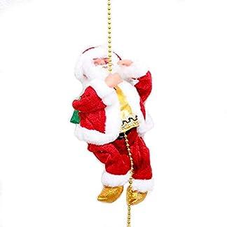 JUNMAONO Santa Claus Cuerda de Escalada Juguete eléctrico de Felpa Escalera de Cuerda Subir en la Escalera de Cuerda Fiesta de Navidad de la Navidad decoración al Aire Libre de muñeca casera