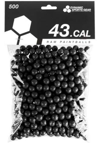 Dynamic Sports DSG RAM Paintballs Cal.43 100 Stück Schwarz