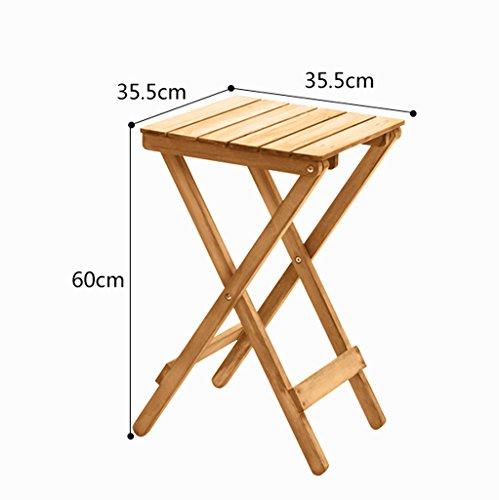 JXXQD Faules Klapptisch Couchtisch Kleiner Tisch im Freien Wohnzimmer Balkon Massivholz Blume Stehen (Color : White) -