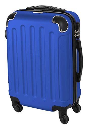 CABIN GO MAX 5571 - Trolley rigido in ABS grande valigia con ruote, 55 cm utilizzabile come bagaglio a mano di dimensioni standard (Royal)