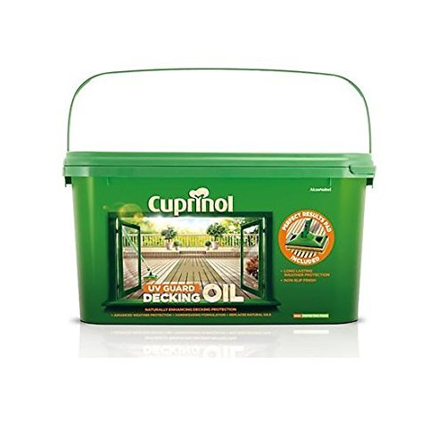 cuprinol-cupdoappnp25-25-litre-uv-guard-decking-oil-with-pad-applicator-natural-pine-by-cuprinol