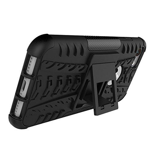 Hülle für iPhone 7 Plus, adorehouse 2 in 1 Hard PC Interior Soft TPU Hybrid Cover Abnehmbare Rüstung Defender mit Kickstand Anti-Rutsch-Shock Absorption Slim Kissen zurück Schützende Shell für iPhone  Grün