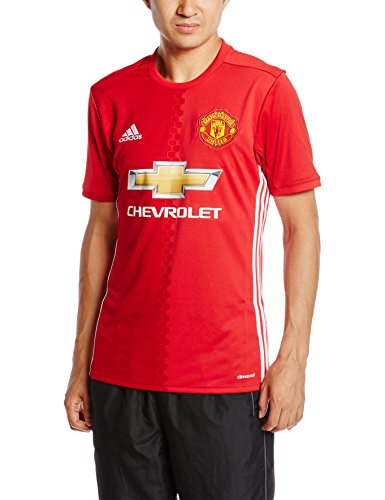 adidas Herren Manchester United Heim Trikot, Real Power Red/White, M