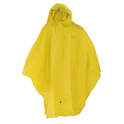 Oulii, Regenmantel, Regenponcho, Regencape für Fahrrad, Fahrradponcho (gelb)