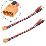 2pcs XT60 Ladekabel mit 4mm Bananenstecker 12AWG Kabel-Balance-Gebühren-Kabel-Adapter-Verbindungsstücke
