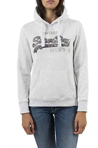 Superdry Shirt Shop Sequin Entry Hood, Felpa Donna...