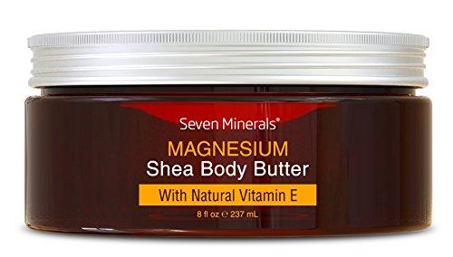 Organische Magnesium Haut Repair Creme für trockene Haut, rissige Fersen, Füße und Hände. 93% Bio & natürliche, in den USA hergestellt Intensive Feuchtigkeitscreme mit Shea Butter und Vitamin E (Aroma-Öl-freie Feuchtigkeitscreme)