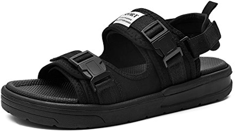 MOM Sandalias de Verano de los Hombres, Zapatos de Playa al Aire Libre,Negro,37