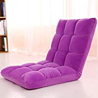 Floor Chairs Adjustable Lazy Floor Sofa Folding Chair Memory Foam Floor Chair for Reading Games Meditating Padded Gaming Chair (Purple)