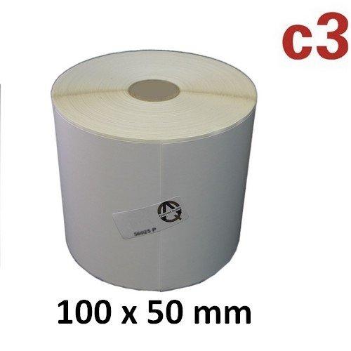 100x50 mm ThermoEtiketten Rolle mit 1.300 Etiketten Zebra ,Citizen,Intermec, TEC