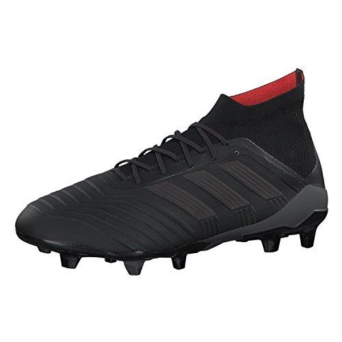 adidas Herren Predator 18.1 Fg Fußballschuhe Schwarz (Core Black/Core Black/Real Coral)