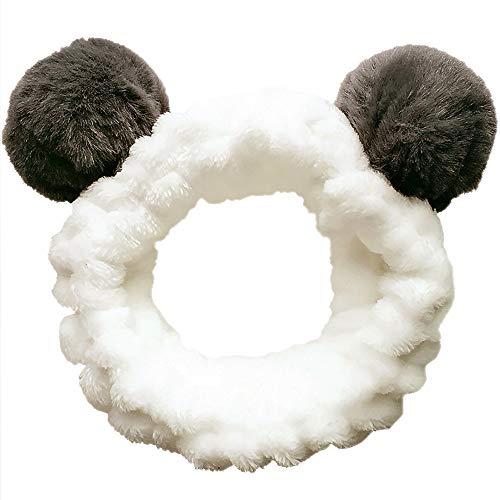 Stirnbänder Haarbänder Koreanische Schönheitsprodukte Haarreifen für Damen Mädchen Panda Ohren Spa Yoga Make-up Laufen Waschen Gesicht Nette Haarschmuck