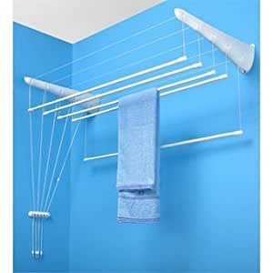 Tendoir linge suspendu etend 39 mieux fixer au mur 5 for Etendage a linge interieur