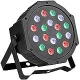 LED Par Licht, ccbetter 24W 18 LEDs Discolicht mit Musik-activated, Auto-run und DMX512 Steuermodus, Verschiedene Farben Kombinationen von Rot, Grün und Blau, Multi-Winkel drehendem Halter, Europäische Norm-Stecker