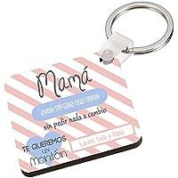 Llavero Madre con Texto Personalizado/Regalo Original Mama/Cumpleaños/Dia de la Madre/Aniversario/Navidad