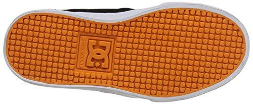 DC Nyjah Vulcanized Youth Shoes Skate Shoe (Little Kid/Big Kid), Black/Orange/Grey, 11 M US Little Kid Black/Orange/Grey