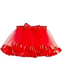 AMUSTER Eleganti Natale Tutina Inverno Ragazze Bambini Tutu Natale Danza  Balletto Bambino Ragazza Arcobaleno Costume Gonna 28e9f4d2975