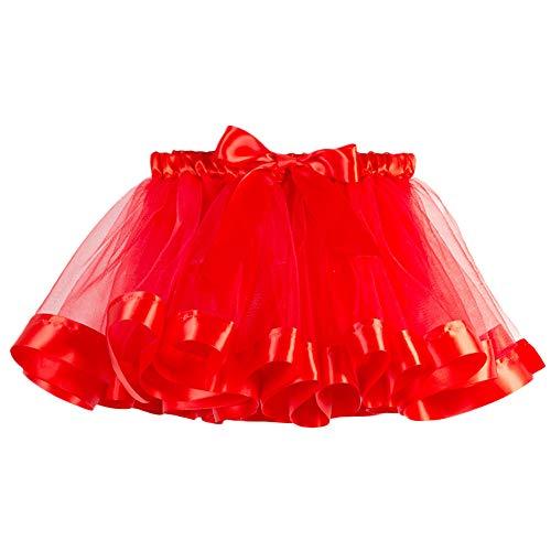 Lenfesh Mädchen Kinder Tutu Weihnachten Party Tanz Ballett Kleinkind Rainbow Baby Kostüm Rock Regenbogen Pettiskirt Ballett Bowknot Rock Tutu Set