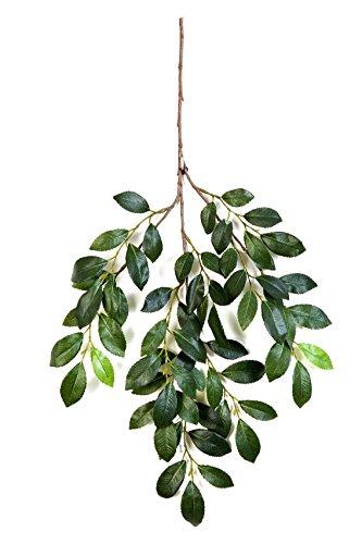 artplants Künstlicher Buchenzweig BADO mit 65 grünen Blättern, 50 cm - Kunst Zweig/Deko Pflanze