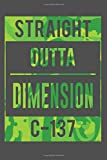 Straight Outta Dimension C-137: Rick and Morty notebook, 100 lined pages, 6x9''