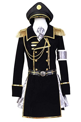 Fuman K Return of Kings Neko Military Uniform Cosplay Kostüm Für Erwachsene Herren Schwarz (Neko Cosplay K Kostüm)