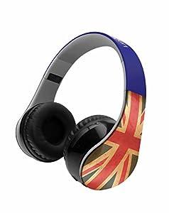 LEXIBOOK Lexibook-BTHP400UK Casco Audio con Bluetooth, Auriculares Diadema, Diseño Bandera Reino Unido (Bthp400Uk)
