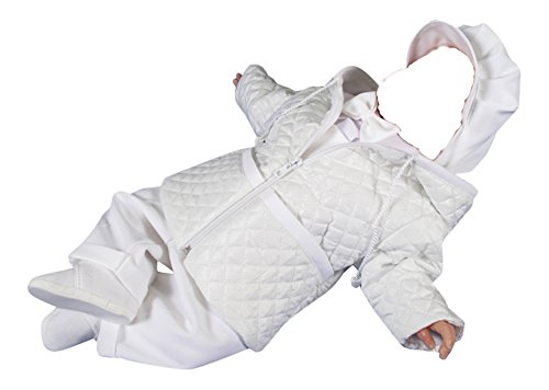 Jacke Taufe Baby Taufhemd Taufjacke Taufkleidung Taufanzug Taufmantel Mantel Latzhose, Steven, Gr.62, weiß