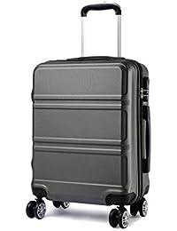 Kono Bagaglio Mano Valigia Materiale ABS Leggero e Resistente con 4 Ruote Rotanti 55 cm, 37L